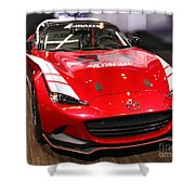 Mx5 Race Car Shower Curtain