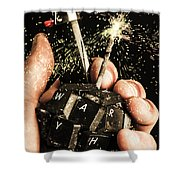 My 1000 Pieces Salute Shower Curtain