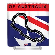 My 2017 Grand Prix Of Australia Minimal Poster Shower Curtain