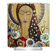 My Angel Modern Icon Shower Curtain