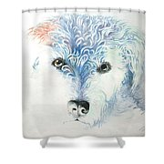 My Best Friend Shower Curtain