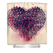 My Bleeding Heart  Shower Curtain