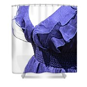 My Blue Dress Shower Curtain