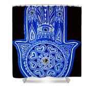My Blue Hamsa Shower Curtain