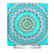 My Blue Heaven Mandala Shower Curtain