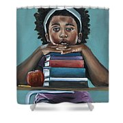 Her Books  Shower Curtain