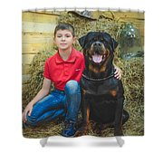 My Brother And The Dog 2 Shower Curtain