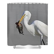 My Catch At The Beach Shower Curtain