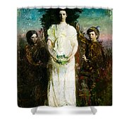 My Children Mary Gerald And Gladys Thayer Shower Curtain