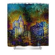 My City Providence Shower Curtain