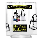 My Clear Backpack Shower Curtain
