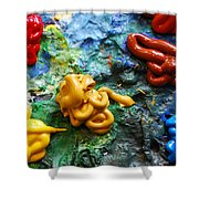 My Colorful Palette Shower Curtain
