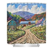 My Country My Village Shower Curtain