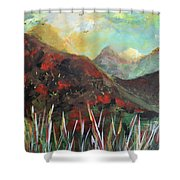 My Days In The Mountains Shower Curtain