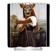 My Deer Shepherdess Shower Curtain