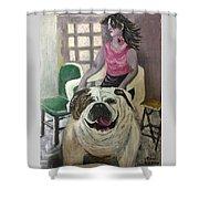 My Dog, My Friend Shower Curtain by Mimi Eskenazi