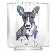 My Dog Ultra Violet Shower Curtain