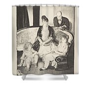 My Family, Second Stone George Bellows  Shower Curtain