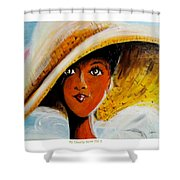 My Favorite Straw Hat II Shower Curtain