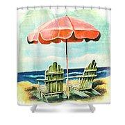 My Favorite Secret Beach Spot Shower Curtain
