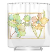 My Favourite Flowers Shower Curtain