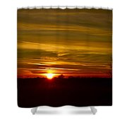 My First 2016 Sunset Photo Shower Curtain