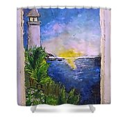 My First Light House Shower Curtain