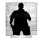 My Fishing Buddy Shower Curtain