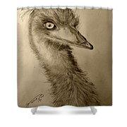My Friend Emu Shower Curtain