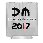 My Global Spirit Tour 2017 - Black Shower Curtain