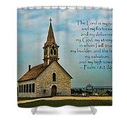 My God My Strength My Salvation Shower Curtain