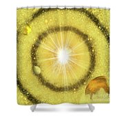 My Golden Universe Shower Curtain