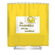 My Grand Children Shower Curtain
