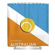 My Grand Slam 01 Australian Open 2017 Minimal Poster Shower Curtain
