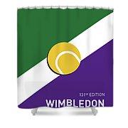 My Grand Slam 03 Wimbeldon Open 2017 Minimal Poster Shower Curtain