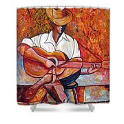 My Guitar Shower Curtain by Jose Manuel Abraham
