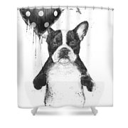 My Heart Goes Boom Shower Curtain