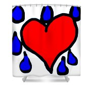 My Heart Is Crying Shower Curtain