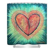 My Heart Loves You Shower Curtain