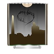 My Heart Sings Of Asheville Shower Curtain
