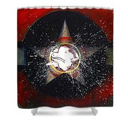 My Indian Red Shower Curtain by Charles Stuart