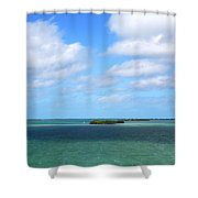My Island In The Sand Shower Curtain