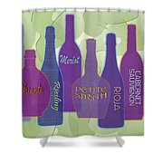 My Kind Of Wine Shower Curtain