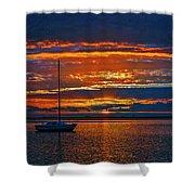 My Last Sunrise At 56 Shower Curtain