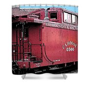 My Little Red Caboose Shower Curtain