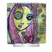 My Love For You Blooms Shower Curtain