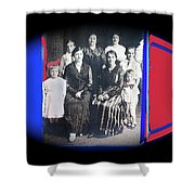 My Mother And Her Family Virginia Minnesota Circa 1919 Shower Curtain