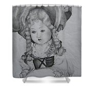 My Old Doll Shower Curtain
