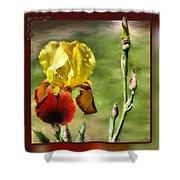 My Painted Iris Shower Curtain