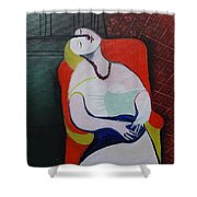 My Picasso, Le Reve 'print' Shower Curtain